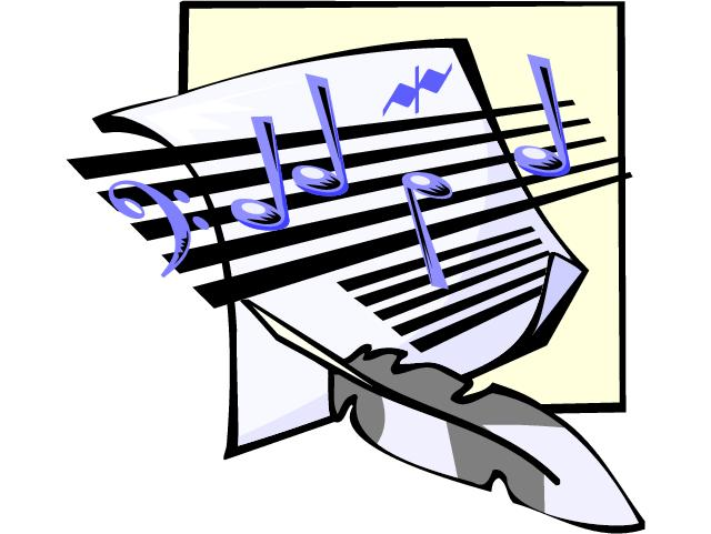 Music and Books Clip Art